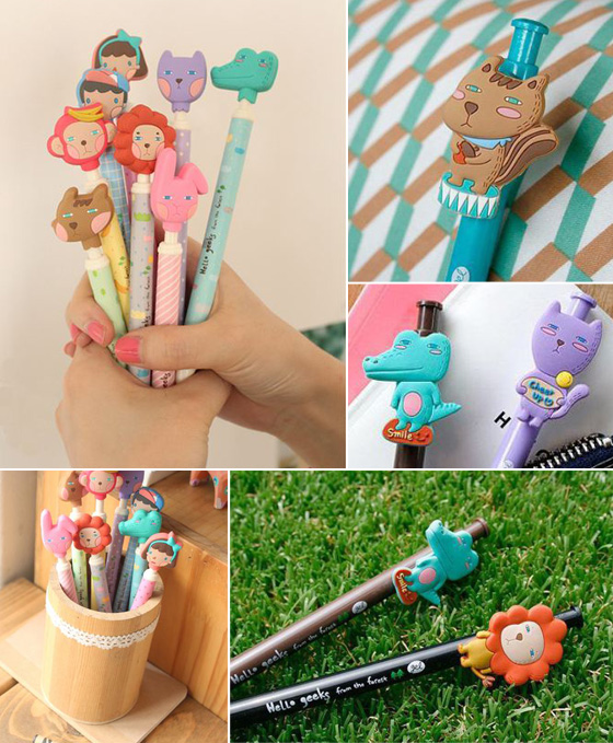 【space-可爱动物家族软胶立体造型笔】 感谢网友热烈抢购,销售一空!
