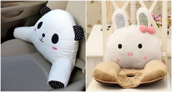 疗愈系动物造型靠枕垫/做腰垫系列