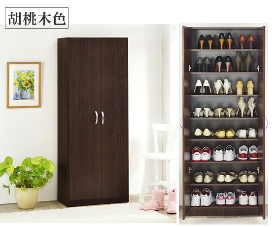 可diy组装   商品说明     (a)双门五层鞋柜   颜色:胡桃木色/时尚