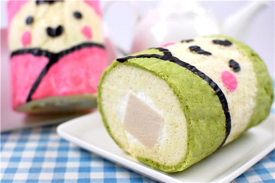 商品说明   品名:cool企鹅香芋奶冻卷   原料:芋头,吉利丁,竹炭粉