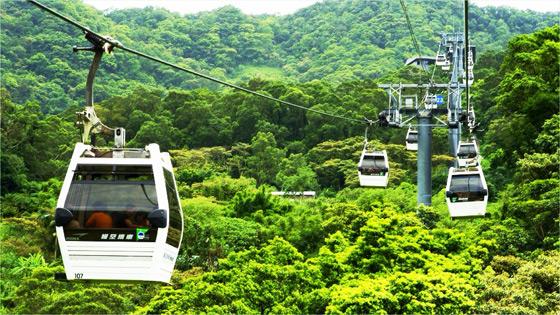猫空缆车   猫空缆车路线由台北市立动物园西侧至猫空地区,为台北市