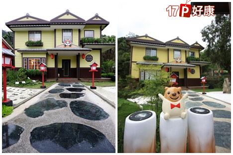 庭园设计上采西式屋檐窗台和日式风味的宫灯图片