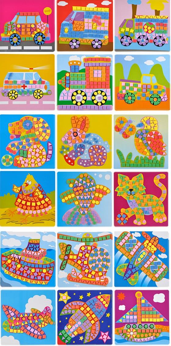 纸团粘贴画-DIY立体益智贴画系列 风靡韩国DIY立体益智贴画系,可爱图案设计