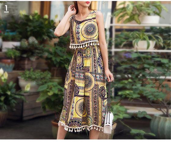波西米亞風/連身/長裙/洋裝