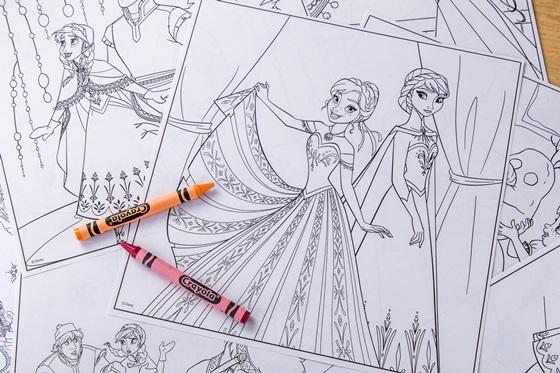 rayola 冰雪奇缘小艺术家绘画工具箱 色铅笔 彩色笔 蜡笔套装系列