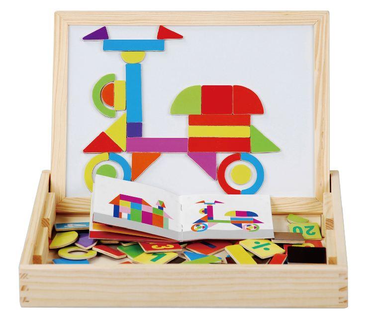 益智多功能磁铁拼图板 让孩子拼贴出自己的一片天 色彩鲜艳的磁性