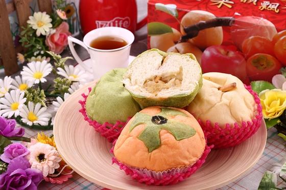 柿子,水梨与青苹果造型,好吃又具趣味性图片