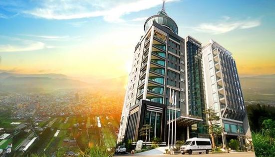 新中式建筑外观阳台