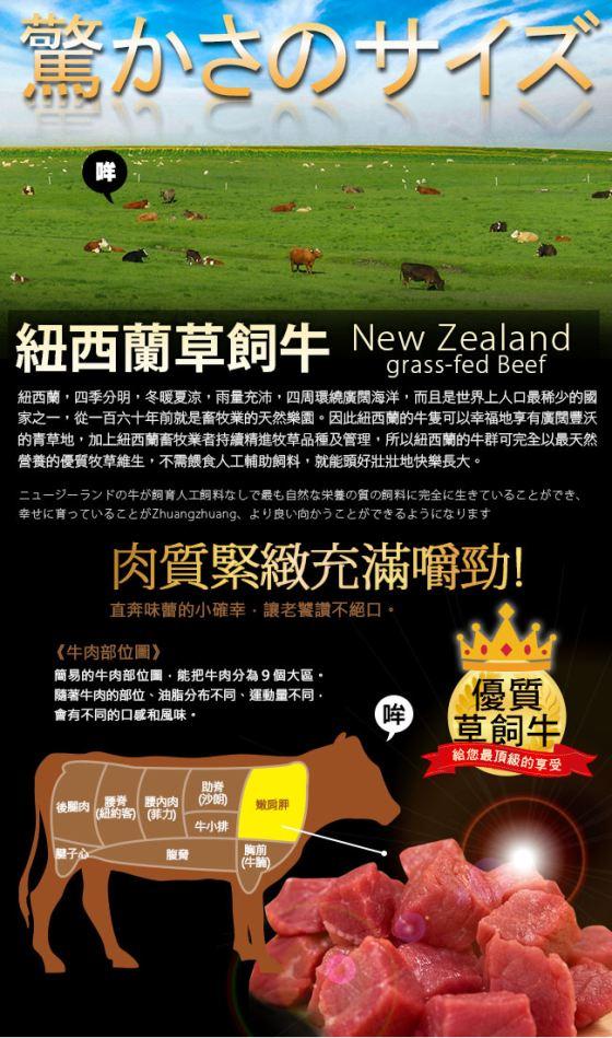 買新鮮/黃金/比例NZ/沙朗/骰子/牛肉/紐西蘭/牛排/三明治/野餐/晚餐/夜市/便當/紅酒/父親節/下酒菜/海鹽/進口/碳烤/BBQ/烤肉/燒烤/點心