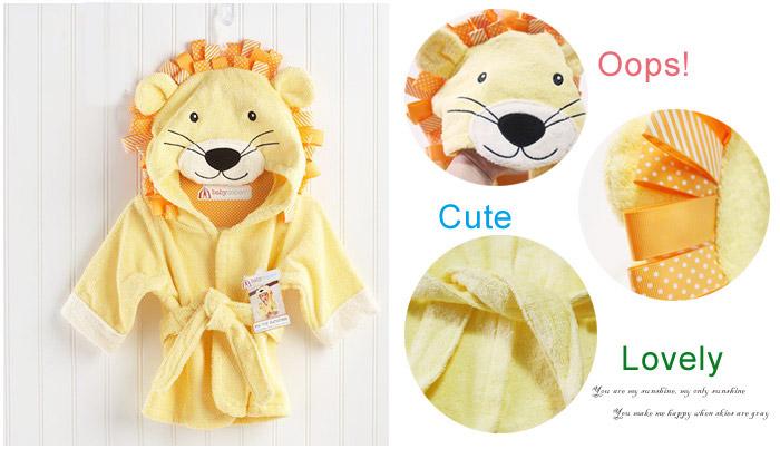 可爱造型宝宝浴袍,超萌动物设计,彻底吸引孩子目光,让小宝贝心甘
