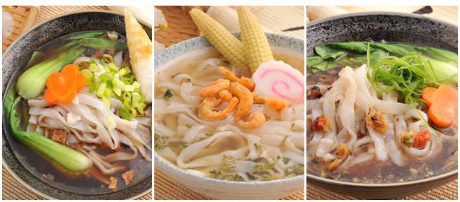经典三种口味任选:红烧牛肉汤面/海鲜汤面/排骨鸡面.