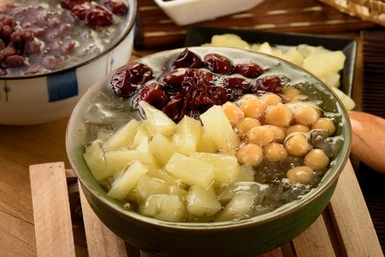 冰鎮金行家/養生/銀耳/甜品/白木耳/甜點/鳳梨/紅豆