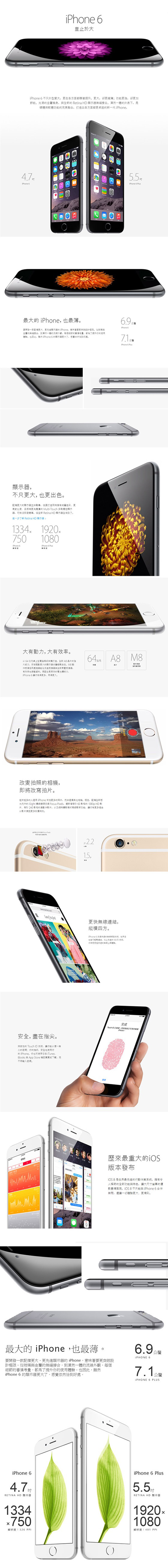 APPLE/ iPhone 6 /4.7吋 /16G/ 灰色/ 9成新 /展示機