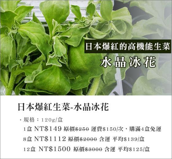 水晶冰花/生菜/冰花/冰花菜/花菜/蔬菜