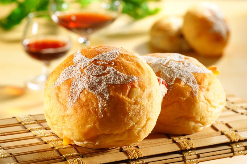 小侯烘焙-冰火波萝包+欧式小圆面包组合-讲究细致的