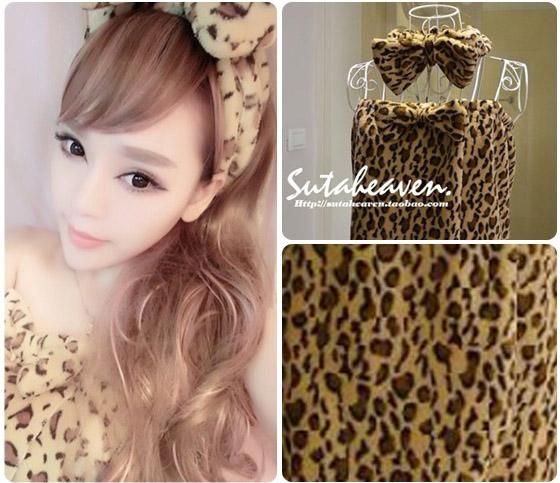韩国热销可爱束发带/珊瑚绒可爱浴裙-完美女孩在家!