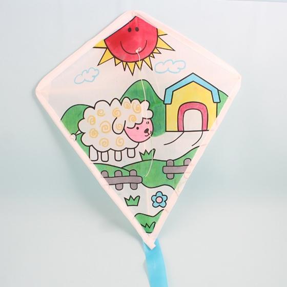 儿童DIY手绘菱形飘飘风筝,宅配,妇幼宠物,童书玩具,17Life,团购图片