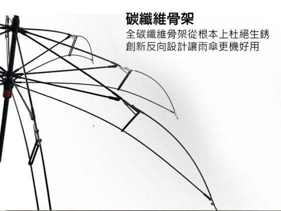 防泼水/抗uv紫外线99%)   骨架材质:碳纤维   把手材质:橡胶漆   伞杆图片