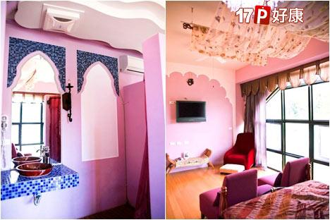 欧洲粉红色设计卧室
