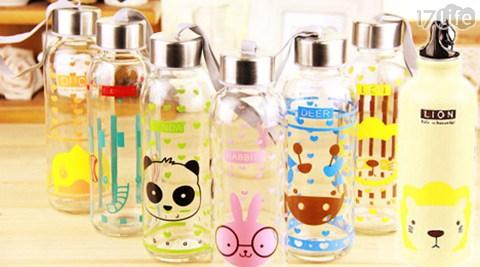【携带式韩系萌萌动物水壶/玻璃瓶】 感谢网友热烈抢购,销售一空!