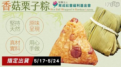 只要389元(含運)即可享有【育成社會福利基金會】原價499元永和食堂-香菇栗子粽6顆(5/17~5/24出貨)。