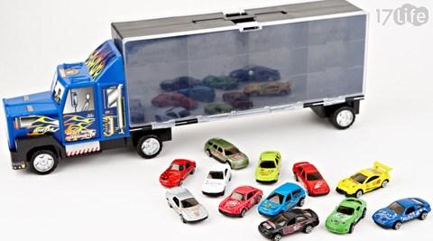 汽车组合(a)合金小跑车4台组:1盒/2盒/3盒(b)手提双面收纳大货车24个