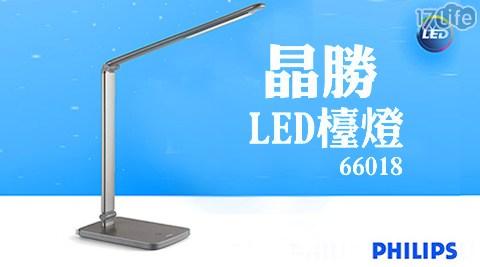 平均每台最低只要990元起(含運)即可享有【PHILIPS 飛利浦】Edge晶勝LED檯燈(66018)1台/2台,享保固2年。