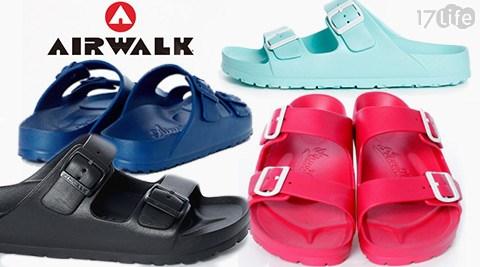 美國AIRWALK-EVA中性雙扣環羅馬休閒AB拖鞋