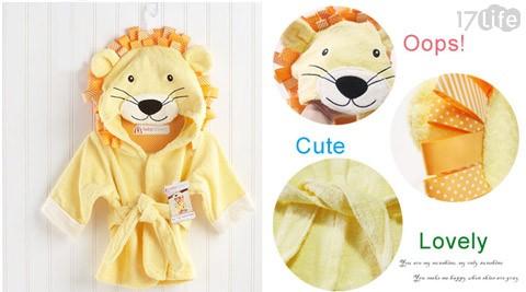 可爱动物造型宝宝浴袍-宝贝从此爱上洗澎澎!