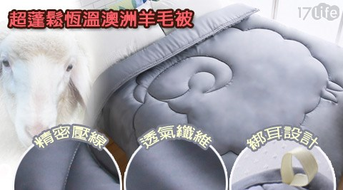 好適家/超蓬鬆恆溫澳洲羊毛被-6x7尺/澳洲羊毛被/澳洲羊毛/羊毛被/保溫/保暖/台灣製/MIT/被子/被毯/被