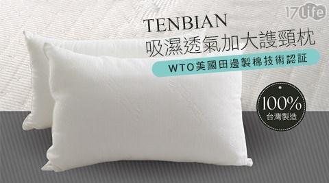 TENBIAN-吸濕透氣加大謢頸枕