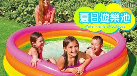 只要479元起(含運)即可購得【INTEX】原價最高1880元泳池組/泳池/戲水池系列1入:(A)132公分圓形戲水泳池組/(B)168公分圓形充氣泳池/(C)208公分抹香鯨噴水戲水池/(C)262公分家庭充氣泳池。