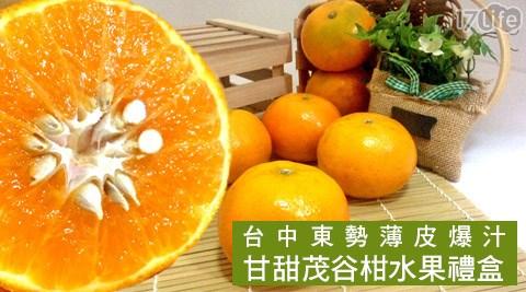 平均最低只要459元起(含運)即可享有台中東勢薄皮爆汁甘甜茂谷柑水果禮盒(14~18粒/5台斤±10%):1盒/2盒/3盒。