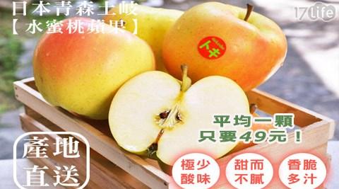 平均每粒最低只要49元起(含運)即可購得日本青森香甜TOKI水蜜桃蘋果10粒/20粒/30粒/46粒(220g±10%/粒)。