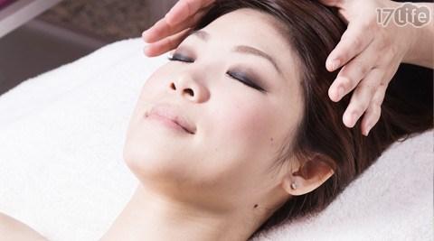 脸部护理+海藻丽白保湿面膜+肩颈手舞按摩+保养品护理+头部spa+药薰