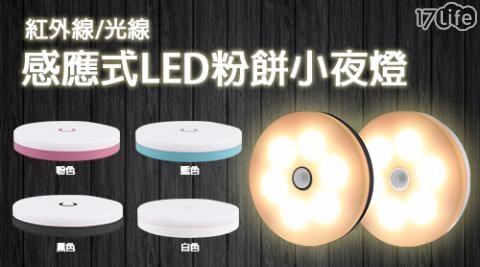 平均最低只要 299 元起 (含運) 即可享有(A)紅外線/光線 感應式LED粉餅小夜燈 1入/組(B)紅外線/光線 感應式LED粉餅小夜燈 2入/組(C)紅外線/光線 感應式LED粉餅小夜燈 3入/組
