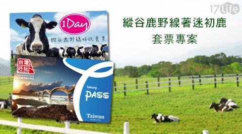 台灣好玩卡-台東運動觀光限定-縱谷鹿野線著迷初鹿大 團購 17life套票單人專案