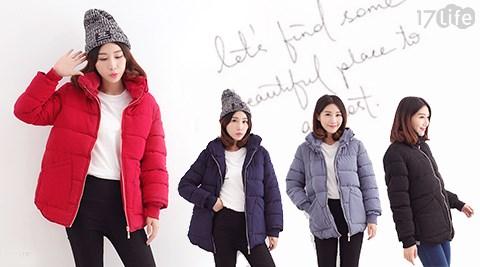 百搭立領休閒保暖加厚棉服外套
