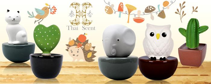 泰香 ThaiScent-擴香精禮盒 泰國皇室古老的香氛哲學,陶瓷視覺療癒擴香,滿園滿室鳥語芬芳,記憶共同美好純真心情