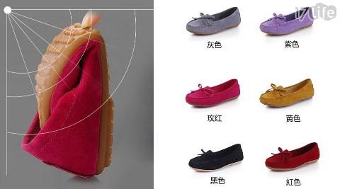 韓系/韓版/軟皮/蝴蝶結/豆豆鞋