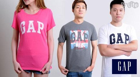 美國GAP-男女款經典Logo圓領上衣