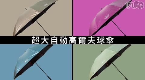平均每入最低只要290元起(含運)即可購得超大自動高爾夫球傘任選1入/2入/4入/8入/16入,顏色:深藍/青色/紫色/鐵灰/果綠/桃紅/金色。