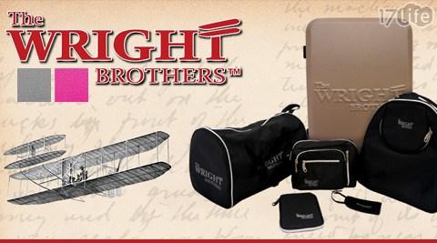 美國原廠WRIGHT萊特兄弟硬殼24吋4輪拉桿17life一起生活行李箱旅行6件組