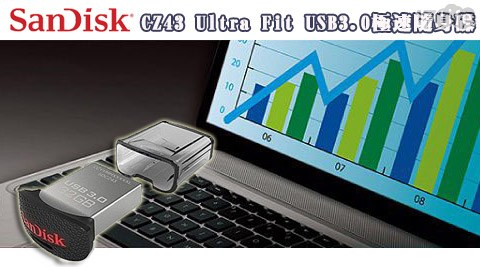 SanDisk 新帝-CZ43 Ultra Fit USB3.0極速隨身碟