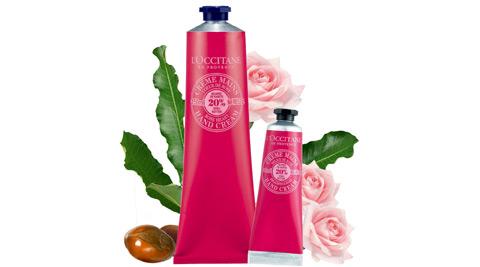 L'OCCITANE乳油木玫瑰護手霜150ml+乳油木玫瑰護手霜 30ml