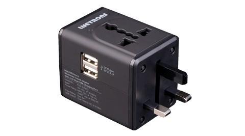 Lifetrons 雙USB 多國旅行轉換插頭