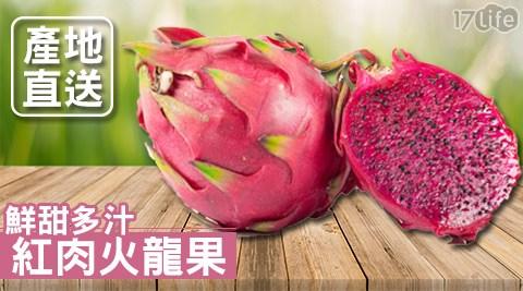 平均每斤最低只要85元起(含運)即可享有嚴選鮮甜多汁紅肉火龍果5斤/10斤/20斤。