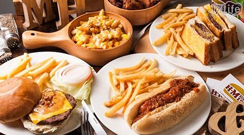 只要150元即可享有【Hometown x Mary's burger 茉莉漢堡《西門店》】原價200元消費金額折抵只要150元即可享有【Hometown x Mary's burger 茉莉漢堡《西門店》】原價200元消費金額折抵,特別推薦:雙層培根起士、純培根起士、牛肉醬熱狗堡、辣醬起司薯條、美式炸雞、家鄉特製早餐、特製冰淇淋法式吐司、百事可樂等。
