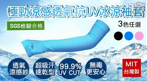 極勁/涼感/透氣/抗UV/冰涼袖套/台灣製/袖套/涼感