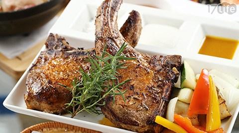 只要588元(雙人價)起即可享有【食尚輕旅景觀餐廳】原價最高1,210元雙人餐:(A)義式套餐/(B)豪華排餐。